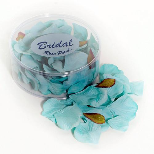 Silk Rose Petals Turquoise Aqua