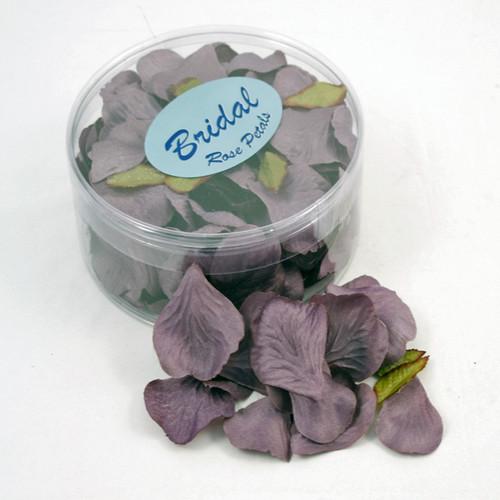 Silk Rose Petals Aubergine Purple