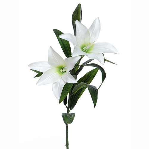 Easter Lily Spray White 80cm