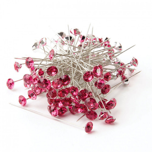Sparkler Pins 6cm x 8mm (Pack of 100) Strong Pink