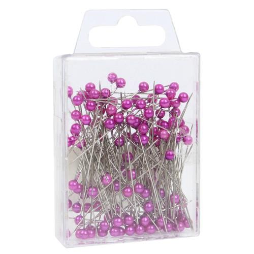 Pearl Head Pins 4cm Fuchsia Lavender
