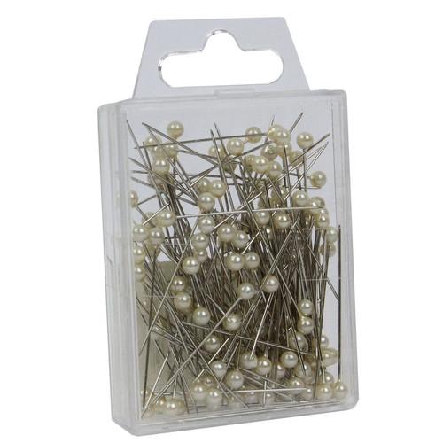 Pearl Head Pins 6cm Ivory