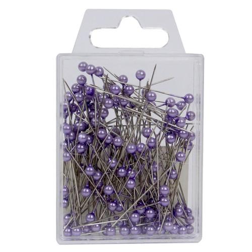 Pearl Head Pins 4cm Lilac