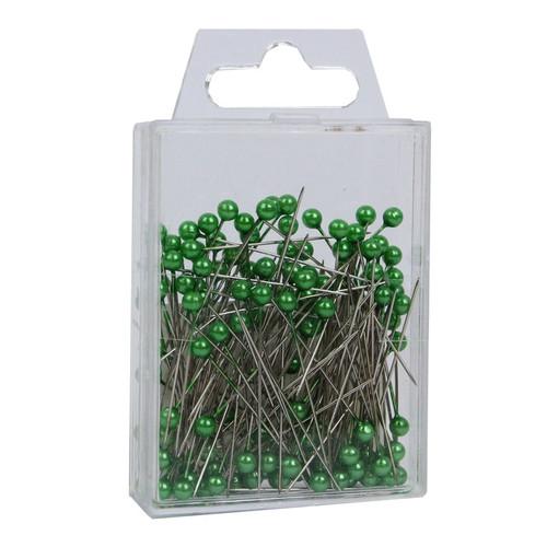 Pearl Head Pins 4cm Lime Green