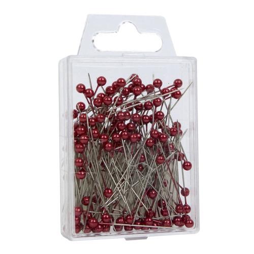 Pearl Head Pins 4cm Red