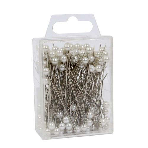 Pearl Head Pins 4cm White