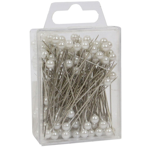 Pearl Head Pins 6cm White