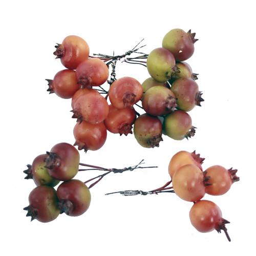 Pomegranate Artificial Autumn Fruit Picks Artificial (x 24)