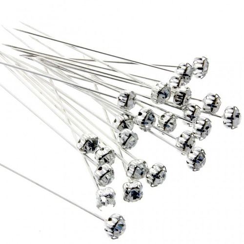 5mm Diamante Corsage Pins (x 36 pieces) 4cm Long