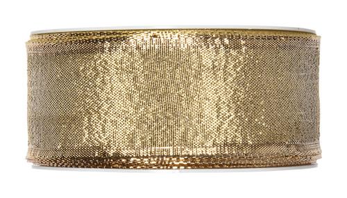Metallic Gold Christmas Ribbon Fabric 40mm x25m