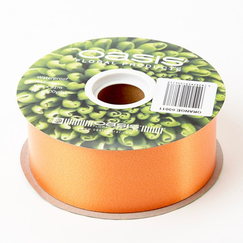Florist Ribbon Bright Orange