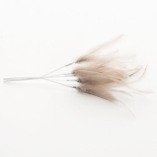 Narrow Feather x 6 Grey