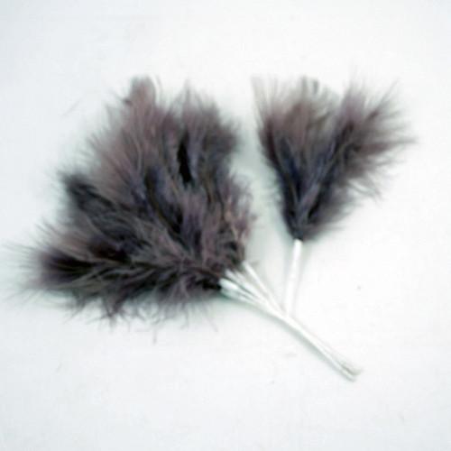 Fluff Feather x 6 Aubergine Purple