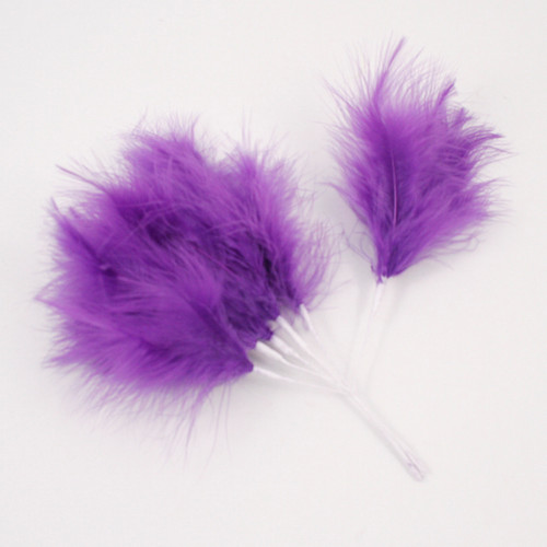 Fluff Feather x 6 Dark Purple
