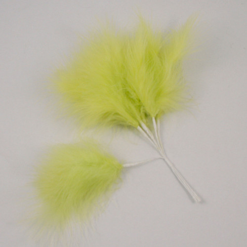 Fluff Feather x 6 Lime Green