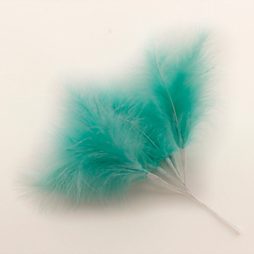 Fluff Feather x 6 Turquoise Aqua