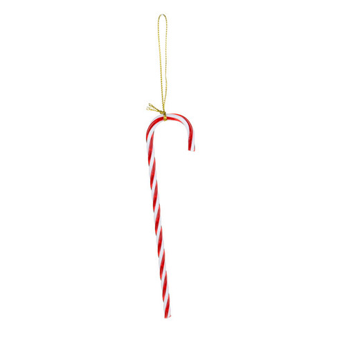 Candy Cane Christmas Tree Decorations (x 6) plastic