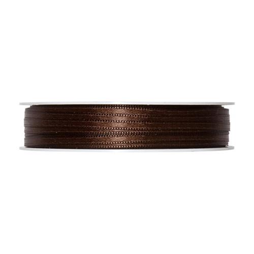 Satin Ribbon 3mm Dark Brown x 50m