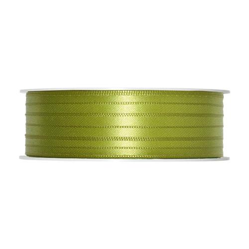 Satin Ribbon 3mm Dark Lime Green x 50m