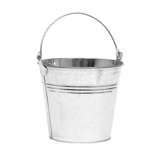 Metal Bucket Galvanised 14cm/5.5 Inches