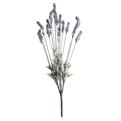 Lavender Plant Artificial 15 Stem 60cm Green Purple