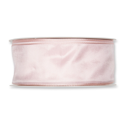 Fabric Ribbon 40mm x 25m Blush Pink