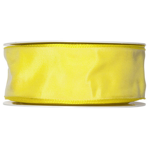 Fabric Ribbon 40mm x 25m Bright Lemon