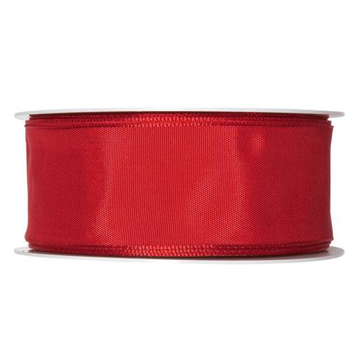 Fabric Ribbon 40mm x 25m Bright Red