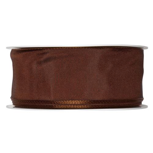 Fabric Ribbon 40mm x 25m Brown