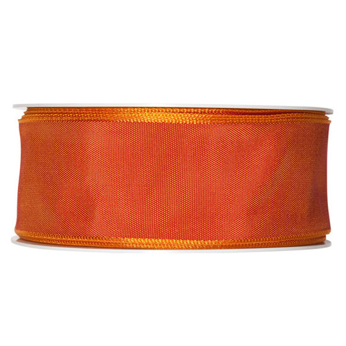 Fabric Ribbon 40mm x 25m Burnt Orange