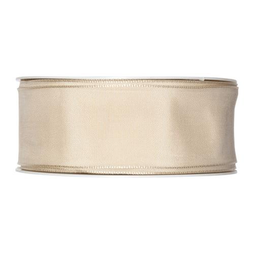 Fabric Ribbon 40mm x 25m Buttermilk