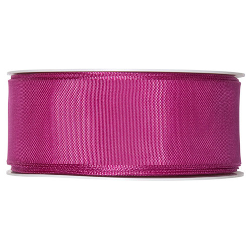 Fabric Ribbon 40mm x 25m Cerise Pink