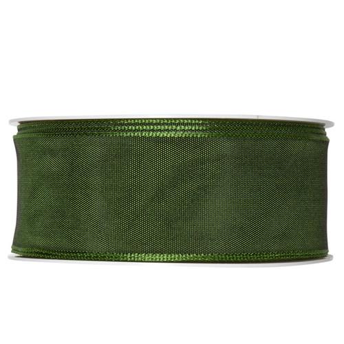 Fabric Ribbon 40mm x 25m Dark Green