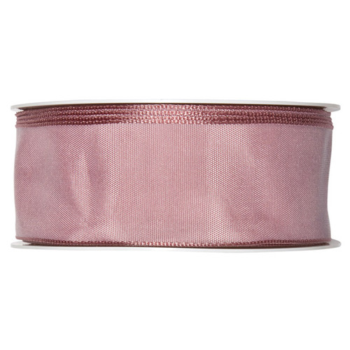 Fabric Ribbon 40mm x 25m Dusky Pink