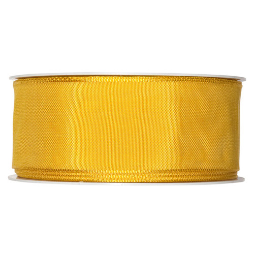 Fabric Ribbon 40mm x 25m Lemon Yellow