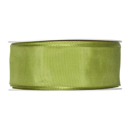 Fabric Ribbon 40mm x 25m Lime Green