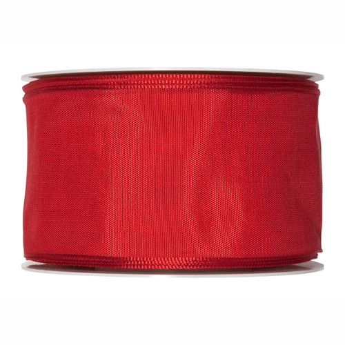 Fabric Ribbon 60mm x 25m Red