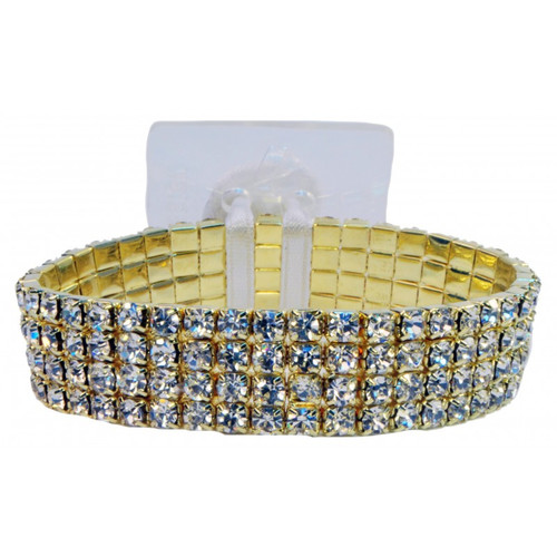 Rock Candy Gold Corsage Bracelet