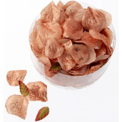 Rose Petals Metallic Rose Gold Artificial Silk (x164)