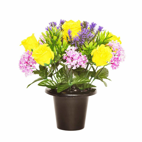 Grave Pot Grave Pot Rose Allium 25cm Yellow