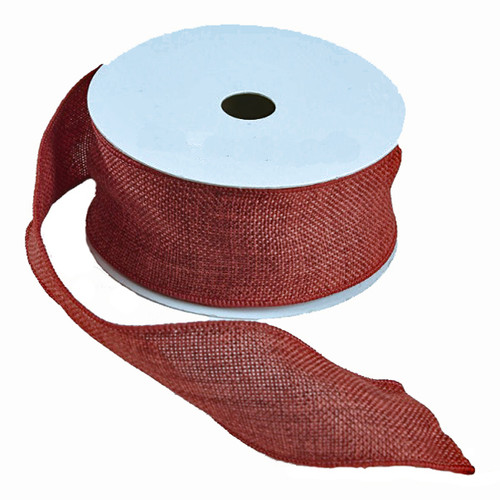 Hessian Ribbon Deep Red 50mm x 9m