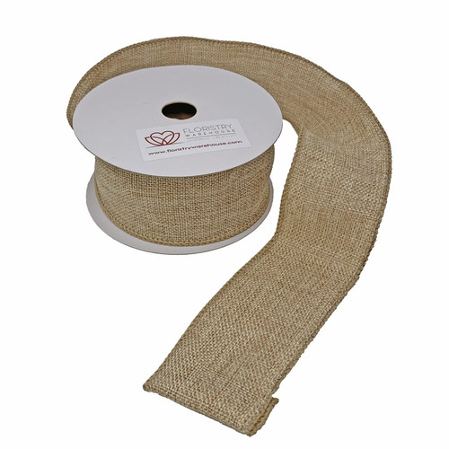 FloristryWarehouse Hessian Ribbon Natural 50mm x 9m