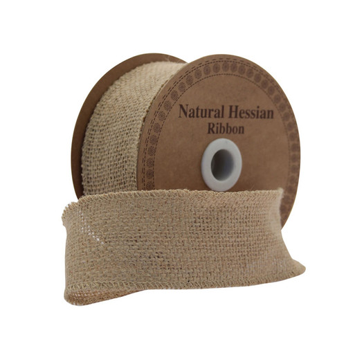 Hessian Ribbon Natural 50mm/2 inches wide x 9m/10yds roll