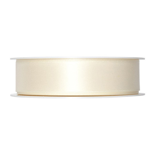 Satin Ribbon 25mm Ivory Cream x 25m