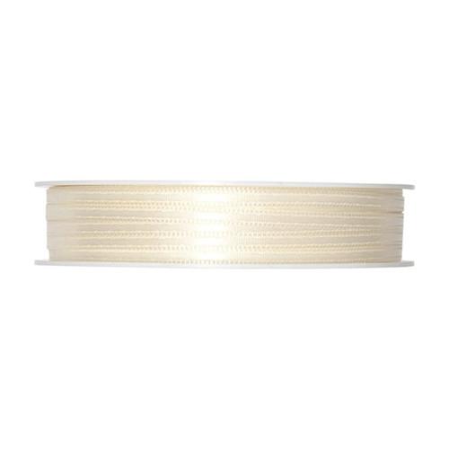 Satin Ribbon 3mm Ivory Cream x 50m