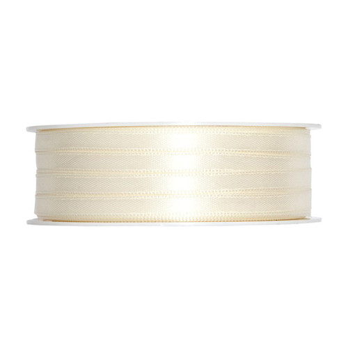 Satin Ribbon 6mm Ivory Cream x 50m