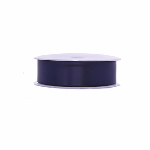 Satin Florist Ribbon Navy Blue 25mm x 20m Roll