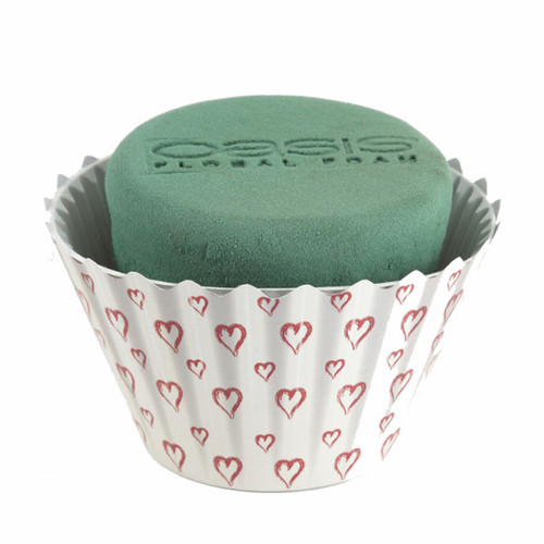 Oasis® Cupcakes Large x 6 Valentine White Red Hearts