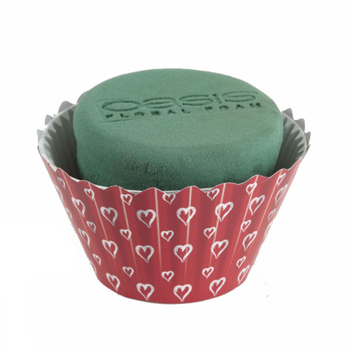 Oasis® Cupcakes Large x 6 Valentine Red White Hearts