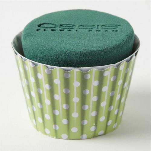 Oasis® Cupcakes Large x 6 Polka Dot Green